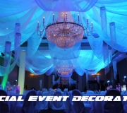 Indian Style with Chandeliers - Blue