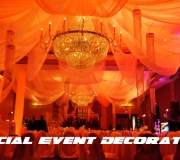 Indian Style with Chandeliers - Orange
