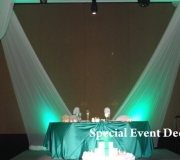Simple backdrop for package style drape