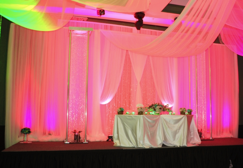 Pink Royal Backdrop with columns