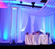 Blue Backdrop with Crystal Columns
